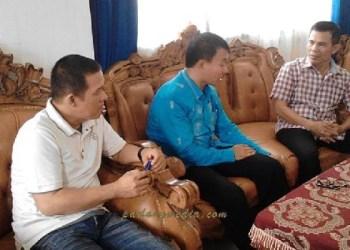 Kunjungan KONI Sumbar ke kantor KONI Sawahlunto, Kamis (13/10). (tumpak)