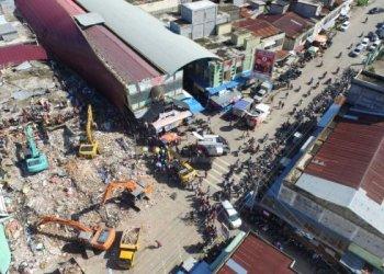 Salah satu titik kerusakan akibat gempa Aceh, Rabu (7/912) dilihat dari udara. (Foto: Sutopo PN/BNPB)