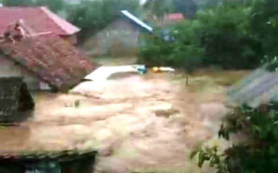 Kondisi banjir di Bima, NTB, Rabu (21/12). (Sutopo PN)