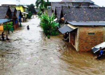 Kondisi banjir di Sumbawa, Nusa Tenggara Barat. (Sutopo/ BNPB)