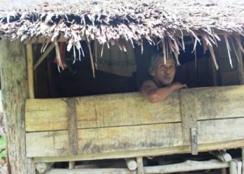 Kewai, keluarga kurang mampu yang menderita stroke, warga Lambuang Bukik Batangkapas Kabupaten Pesisir Selatan. (fahmi)