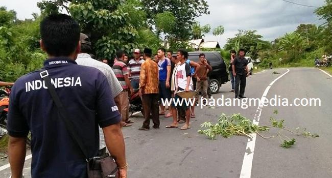 Kecelakaan di jalan lintas Simpang Gudang - Pasaman, Selasa (4/4) sore. (fajar)