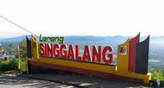 Kawasan Agrowisata Lereng Gunung Singgalang. (int)