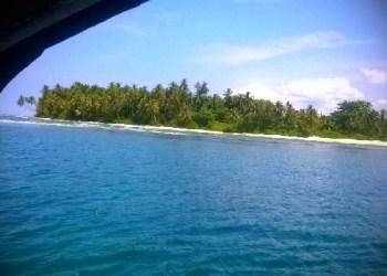 Pulau Ujung di Perairan Tiku, Kab.Agam. (fajar)