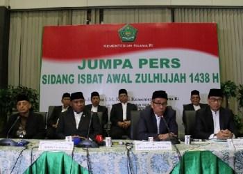 Sidang istbat penetapan Idul Adha1438 H. (foto: humas kemenag)