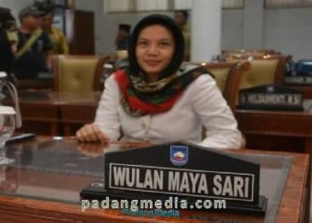 Anggota DPRD Kota Sawahlunto, Wulan Maya Sari. (tumpak)