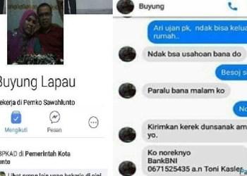 Akun facebook milik Kepala Dinas PKAD Sawahlunto, Buyung Lapau yang dibajak orang tak dikenal. (tumpak)