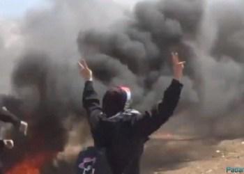 Dua muslimah Palestina ikut berjuang di Jalur Gaza. (net)