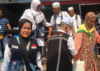 Jemaah haji Indonesia pulang ke tanah air. (humas kemenag)