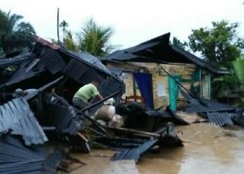 Bencana banjir dan longsor di daerah Pasaman. (riki)