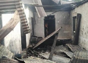 Satu unit rumah yang terbakar di Nagari.., Pasaman. (riki)