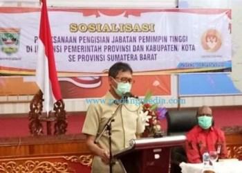 Gubernur Sumbar Irwan Prayitno saat sosialisasi
