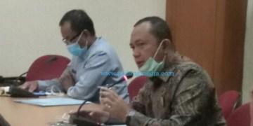 Wakil Ketua Komisi II DPRD Sumbar Muhayatul saat studi komparatif ke Provinsi Riau, Selasa (11/8/2020). (ist)