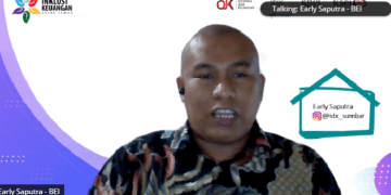 Kepala Kantor Perwakilan PT BEI wilayah Sumatera Barat Earli Saputra. (Febry)