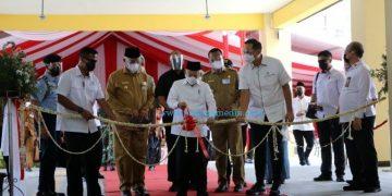 Peresmian Pasar Rakyat di Kota Pariaman oleh Wapres RI Maaruf Amin, Selasa (6/4/2021). (Diskominfo Sumbar)