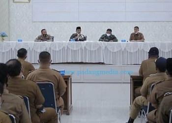 Rakor Satgas Covid-19 Pemkab Pasaman. (Riki)