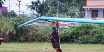 """Atlet Gantole Sumbar NSR Yalatif """"ready to take off"""" di PON XX Papua, Kamis (24/9/2021). (KONI SB)"""