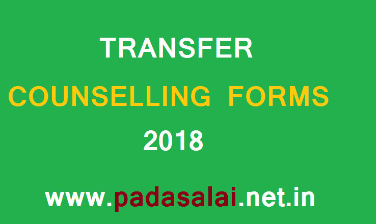 TRANSFER COUNSELLING FORMS 2018 - padasalainetin