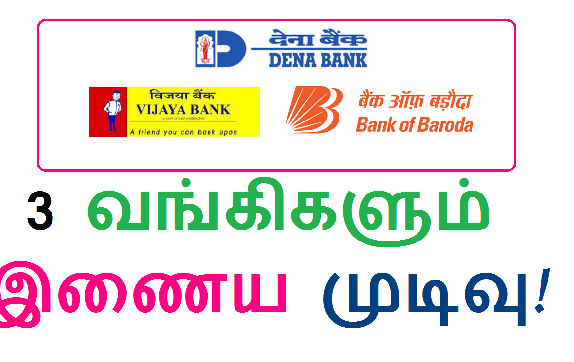 Bank Of Baroda - Dena Bank - Vijaya Bank - Bank Merger - Bank Consolidation