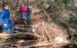 Hutten bouwen in Padbroek