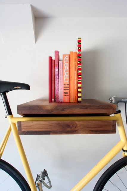 Bike shelf desk