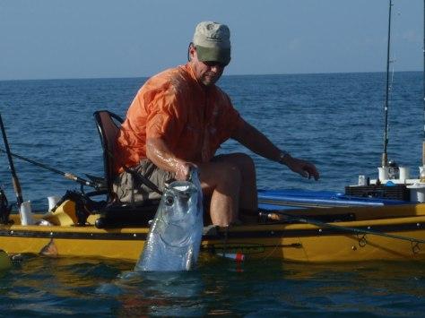 Tarpon caught from Native Kayak