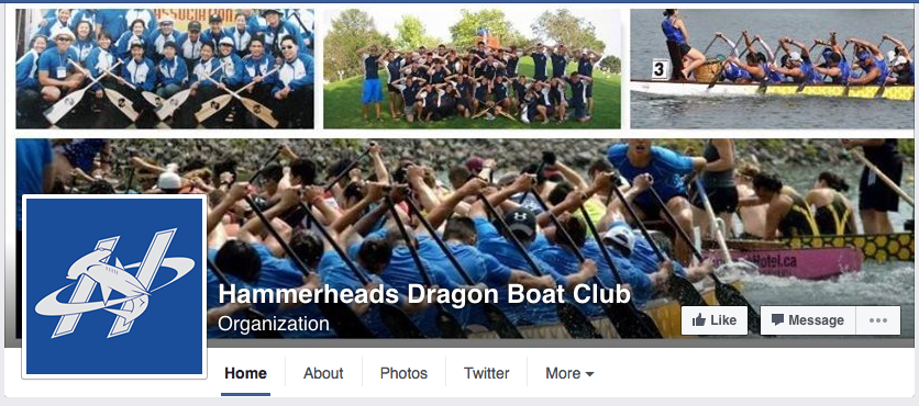 Hammerheads dragon boat team Facebook page