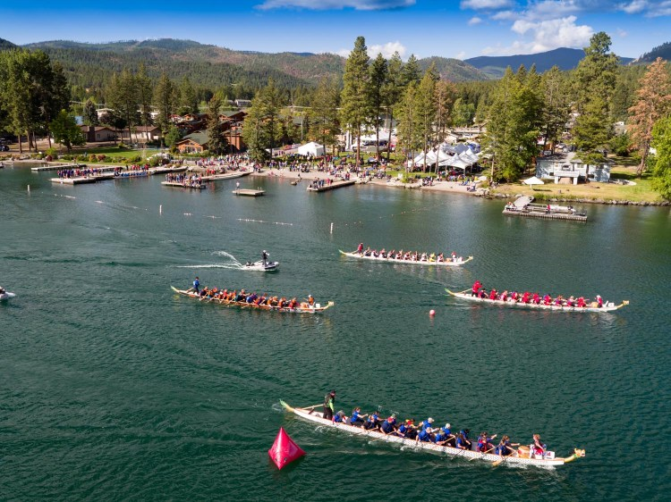 Aerial Photo of Montana Dragon Boat Races