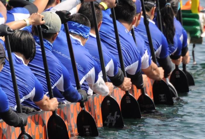 Dragon boat team racing