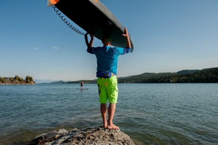 Standup paddleboarding, Flathead Lake