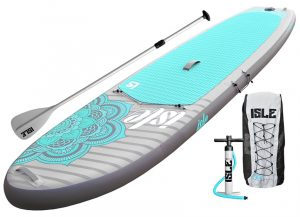 ISLE 10'4 Airtech Yoga Inflatable Stand Up Paddle Board - package