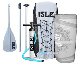 ISLE 10'4 Airtech Yoga Inflatable Stand Up Paddle Board - package includes