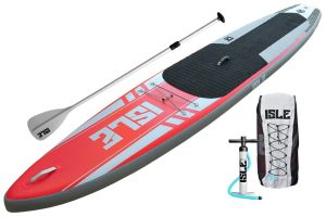 ISLE 12'6 Airtech Inflatable Touring Stand Up Paddle Board - package
