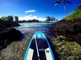 ISLE Airtech 10' All Around Inflatable Stand Up Paddle Board - beautiful paddling