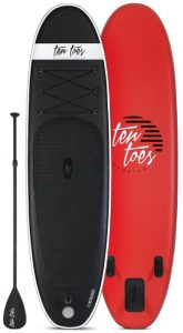 Ten Toes 10' Weekender Inflatable Stand Up Paddle Board - Black Red color