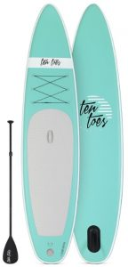 Ten Toes 12' Globetrotter Inflatable Stand Up Paddle Board - Seafoam color