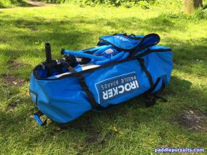 iRocker Cruiser SUP backpack - all fits easily - iSUP paddle pump