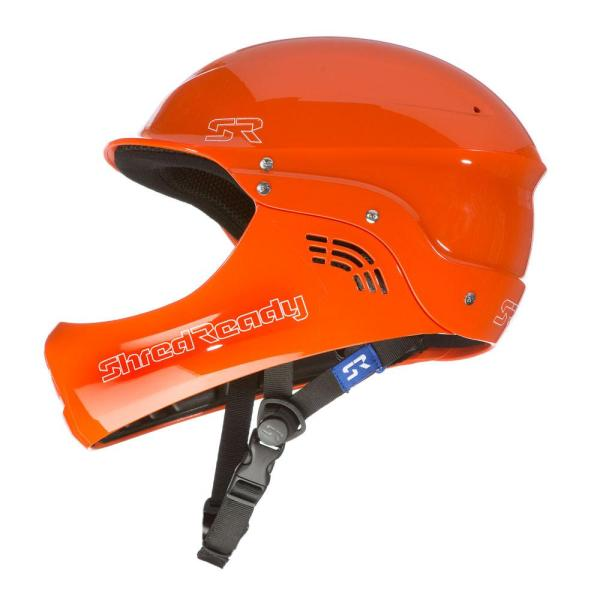Shred Ready | Standard Fullface Helmet | Orange | Side View