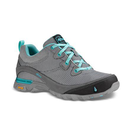 Women's Ahnu Sugarpine Air Mesh Hiking Shoe | Medium Grey | Side View
