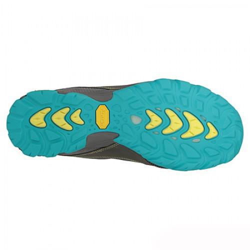 Women's Ahnu Sugarpine Waterproof Hiking Boot | Dark Grey | Bottom View