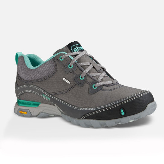 Women's Ahnu Sugarpine Waterproof Hiking Shoe | Dark Grey | Side View
