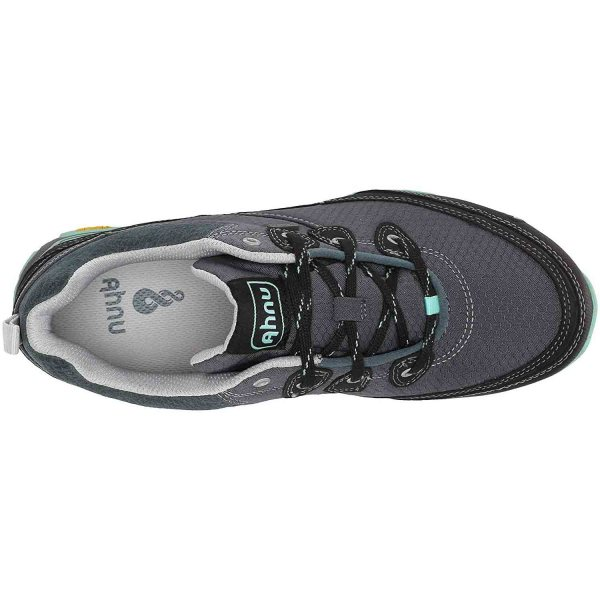 Women's Ahnu Sugarpine Waterproof Hiking Shoe | Dark Slate | Top View