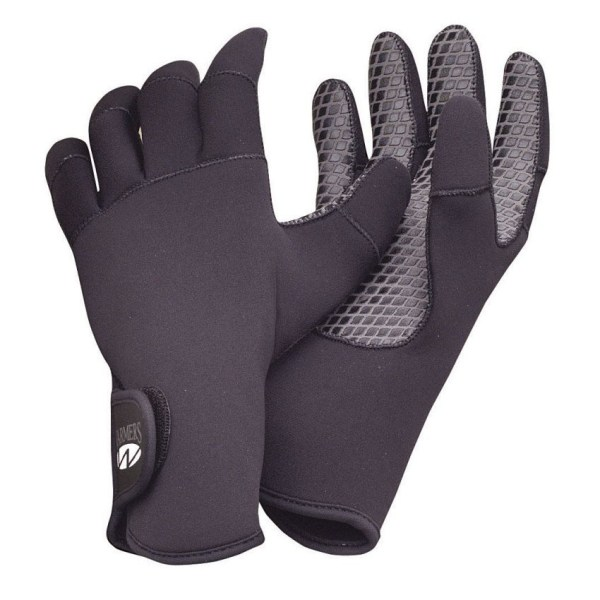Aqua Lung Neoprene Paddler's Gloves | Black | Front and Back View
