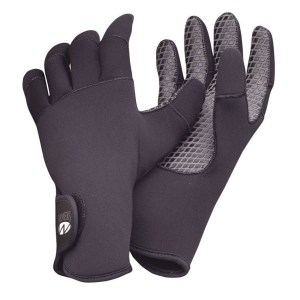 Aqua Lung Paddler Gloves | Neoprene | Black | Front and Back View