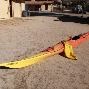 used yellow and orange gradient sealution ocean kayak