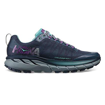 Women's Hoka One One Challenger ATR 4 Trail Running Shoe | Aquifer Vintage Indigo | Side View