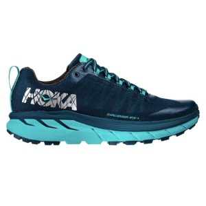 Women's Hoka One One Challenger ATR 4 Trail Running Shoe | Poseidon Bluebird | Side View