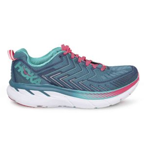 Women's Hoka One One Clifton 4 Running Shoe | Blue Coral Ceramic | Side View