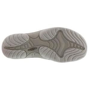Women's Keen Bali Flip Flop   Agate Grey Dark Olive   Bottom View