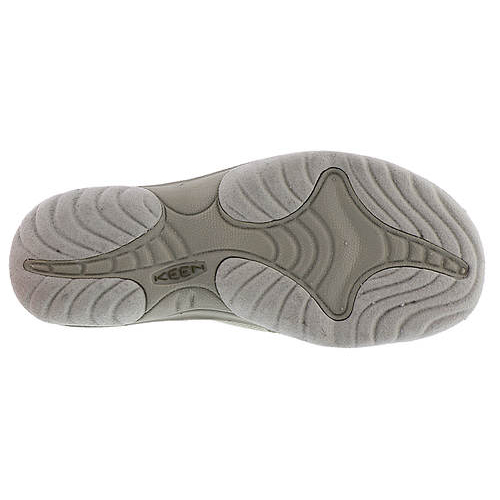 Women's Keen Bali Flip Flop | Agate Grey Dark Olive | Bottom View